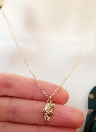 Colier cu cactus placat cu aur, colier minimalist [2]