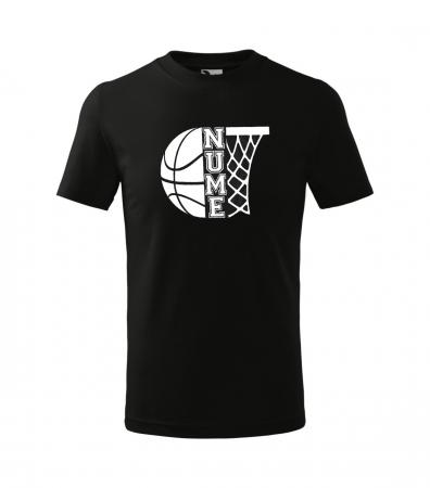 Tricou personalizat pentru copii, pentru pasionatii de baschet, cu nume si minge de baschet [3]