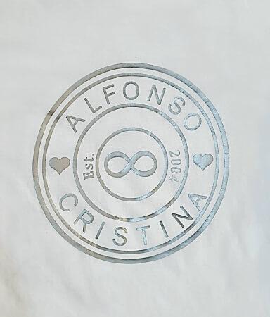 Tricou personalizat pentru cuplu, cu numele partenerilor si anul relatiei [2]