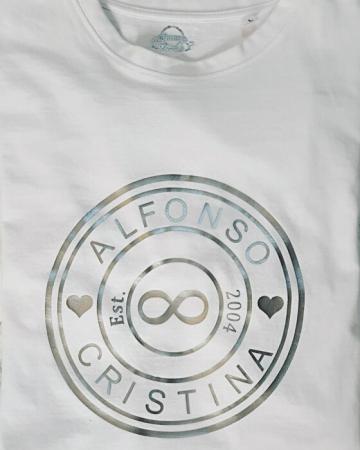 Tricou personalizat pentru cuplu, cu numele partenerilor si anul relatiei [4]