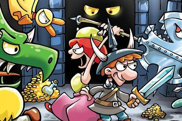 Munchkin Dungeon brings the card game's jokes and backstabbing to a board game
