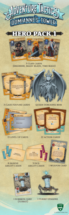Adventure Tactics: Domianne's Tower – Hero Pack 1 1