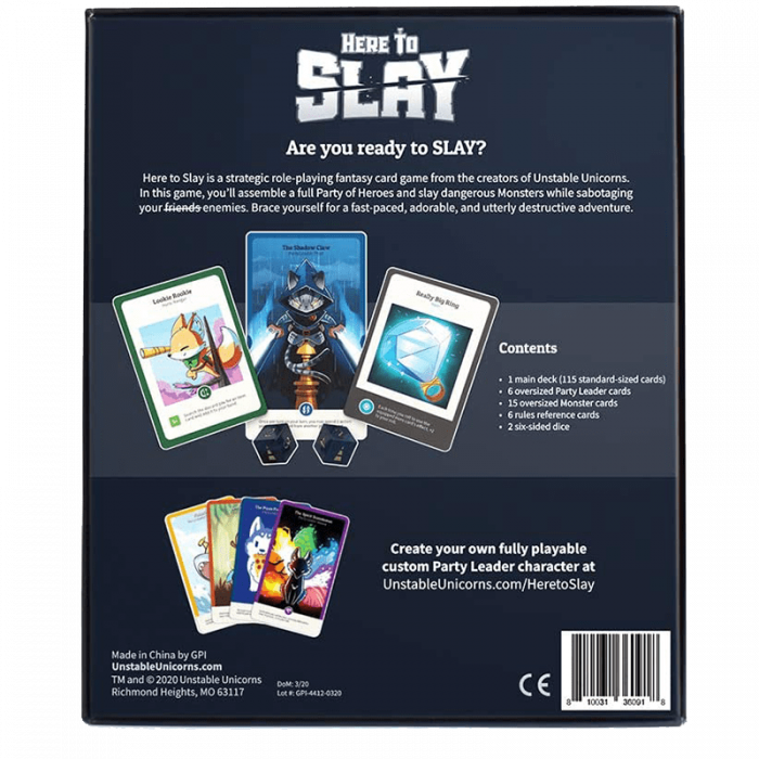 Here to Slay [1]