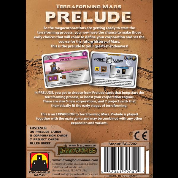 Terraforming Mars: Prelude 1