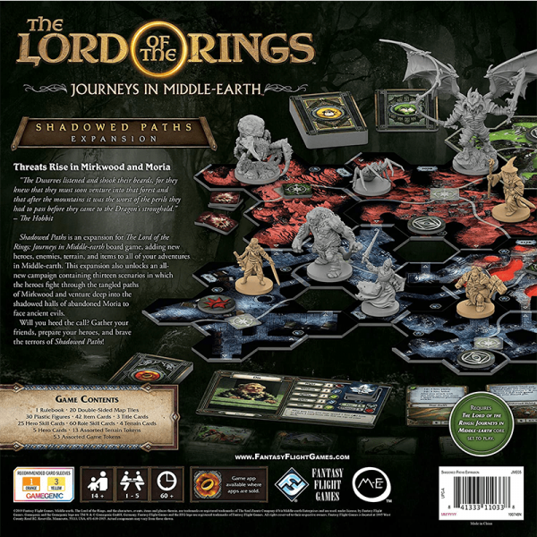 The Lord of the Rings: Journeys in Middle Earth – Shadowed Paths Expansion 1