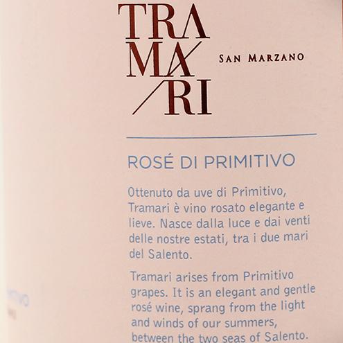 Tramari Rose Di Primitivo Salento 2018, San Marzano 1