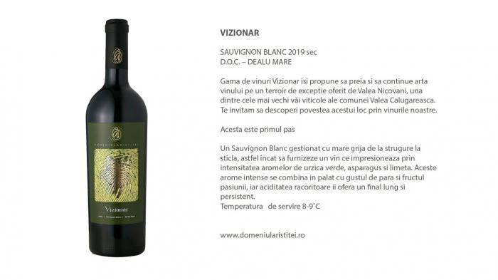 Vizionar Sauvignon Blanc, Domeniul Aristitei [1]