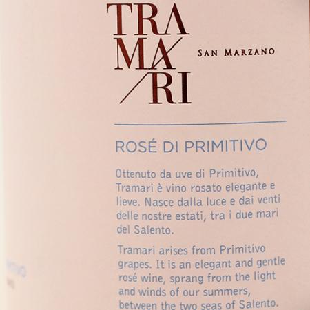 Tramari Rose Di Primitivo Salento 2018, San Marzano1