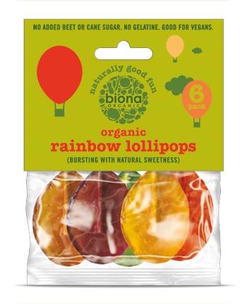 Acadele rainbow bio 6buc/pachet fara zahar - vegan [0]