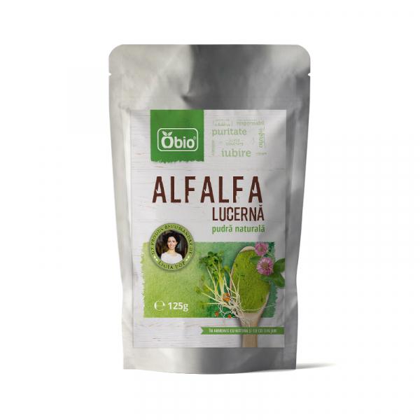 Alfalfa (lucerna) pulbere verde raw 125g 0