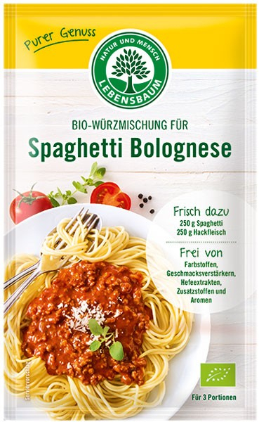 Amestec BIO de condimente pentru Spaghetti Bolognese, 35 g LEBENSBAUM [0]