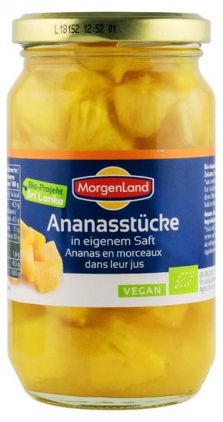 Ananas BIO bucati in suc propriu, 350 g MORGENLAND [0]