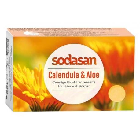Sapun Crema Bio Galbenele si Aloe 100 Gr 1