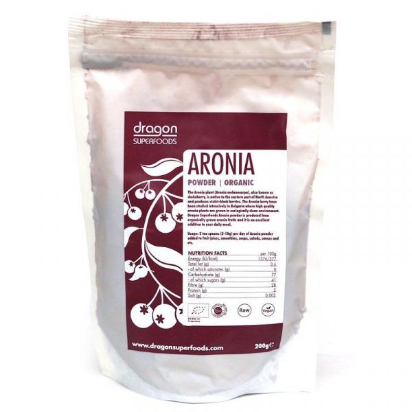 Aronia pudra raw bio 200g 0