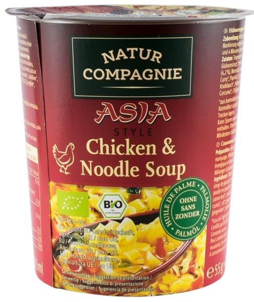 Asia Style - Supa bio de pui cu taitei, 55g NATUR COMPAGNIE [0]