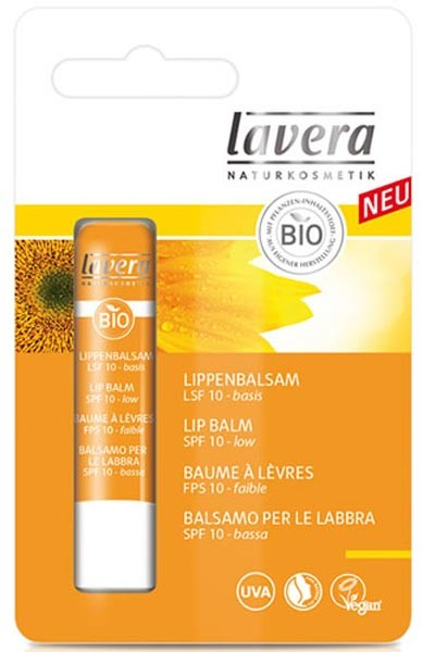Balsam de buze cu protectie solara SPF10, 4,5 g Lavera 0
