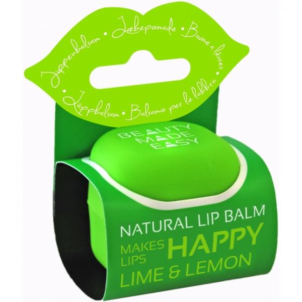 Balsam natural de buze cu lime si lamaie, 7 g 0