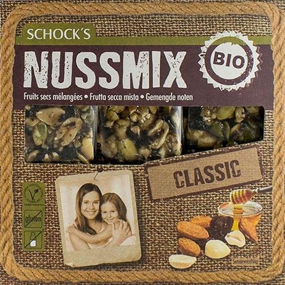 Batoane Bio crocante cu mix de alune si miere 3x25 g Schock's 0