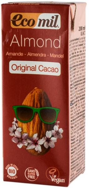 Bautura bio de migdale cu cacao, 200 ML Ecomil 0