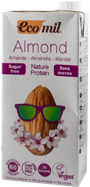 Bautura BIO de migdale natur protein, fara zahar, 1L Ecomil 0
