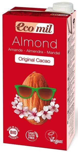 Bautura de migdale Bio  cu cacao, 1 l Ecomil [0]
