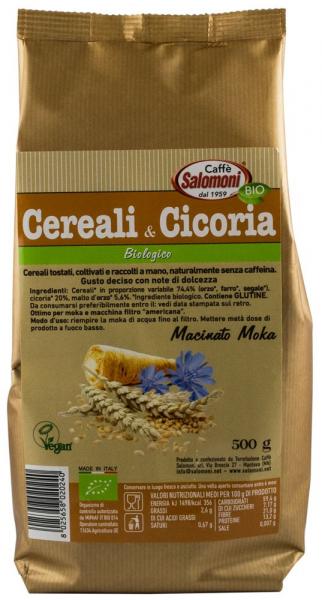 Bautura din cereale Bio prajite si Cicoare,  0% cofeina - 500 g Salomoni [0]