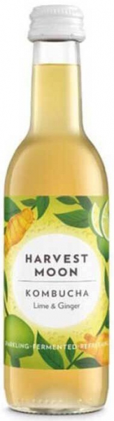 Bautura fermentata BIO Kombucha cu limete si ghimbir, 250 ml Harvest Moon [0]