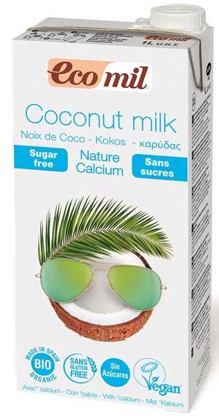 Bautura vegetala bio de cocos natur cu calciu, 1L Ecomil 0
