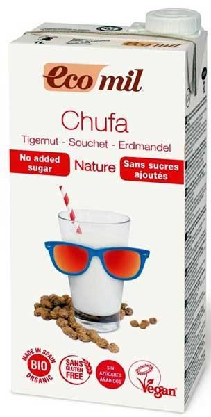 Bautura vegetala bio din migdale de pamant Chufa, fara zahar, 1L Ecomil [0]