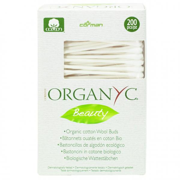 Betisoare cu bumbac organic 200 buc Organyc 0