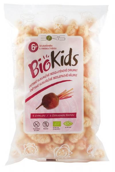 BioKids - Pufuleti BIO cu sfecla rosie, 55 g 0