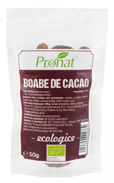 Boabe de cacao raw, bio, 50 g 0