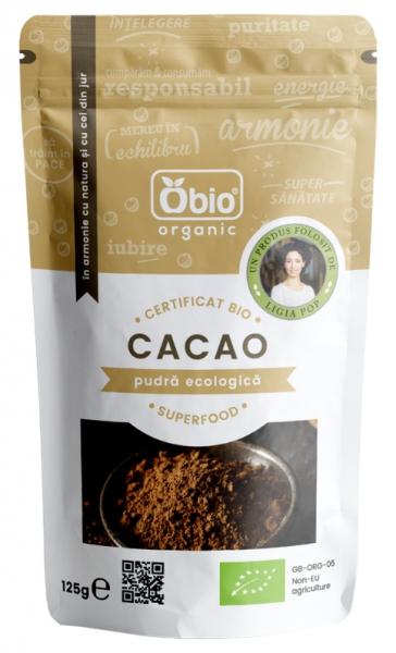 Cacao pudra raw bio 125g, varietate Criollo 0