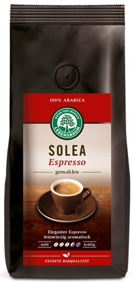 Cafea bio macinata Solea Expresso - 100% Arabica, 250 g LEBENSBAUM 0