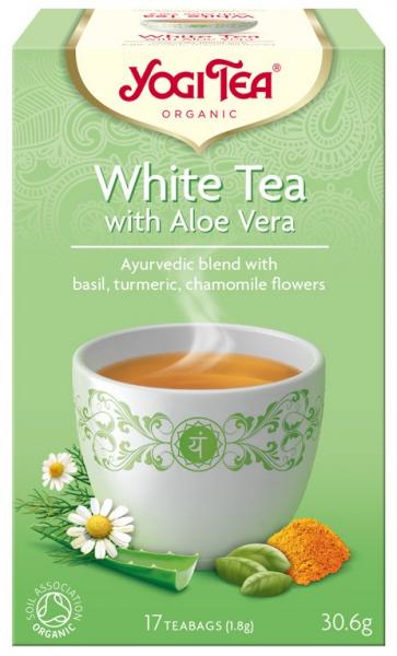 Ceai Bio Alb cu Aloe Vera, 30.6gr Yogi Tea [0]