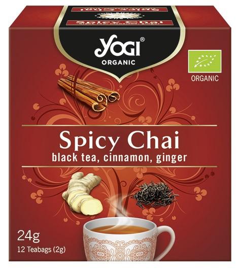 Ceai BIO cu mirodenii, ceai negru, scortisoara, ghimbir, 12 plicuri - 24 g Yogi Tea 0