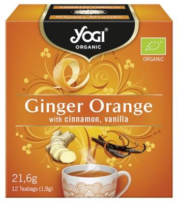 Ceai BIO cu portocale, ghimbir, scortisoara si vanilie, 12 plicuri - 21,6g Yogi Tea 0