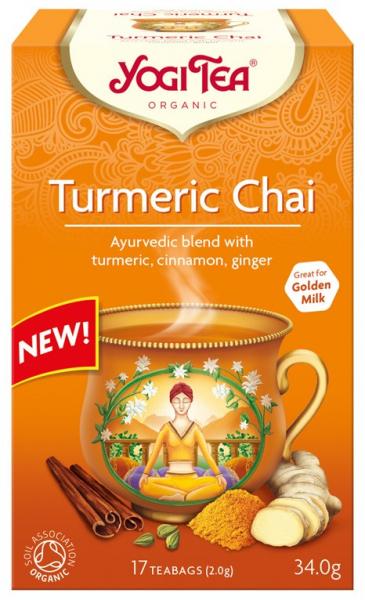 Ceai Bio cu TURMERIC (Curcuma), 34 g Yogi Tea [0]