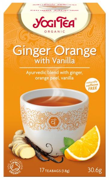 Ceai Bio GHIMBIR CU PORTOCALE SI VANILIE, 30.6g Yogi Tea [0]