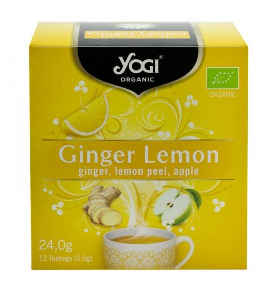 Ceai BIO ghimbir, lamaie si mar, 24 g Yogi Tea 0