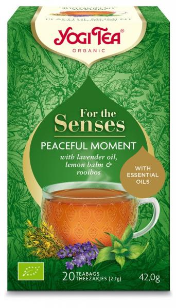 Ceai bio pentru simturi, momente linistite, 42G Yogi Tea [0]