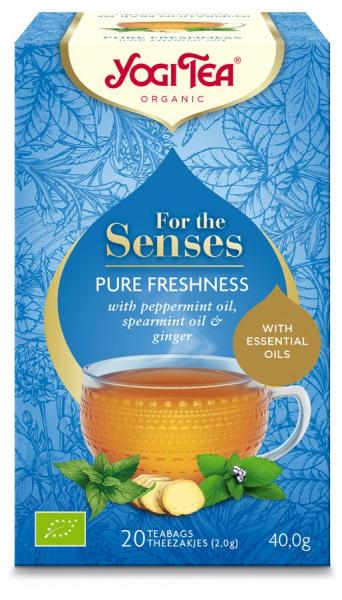 Ceai bio pentru simturi prospetime pura, 40G Yogi Tea [0]