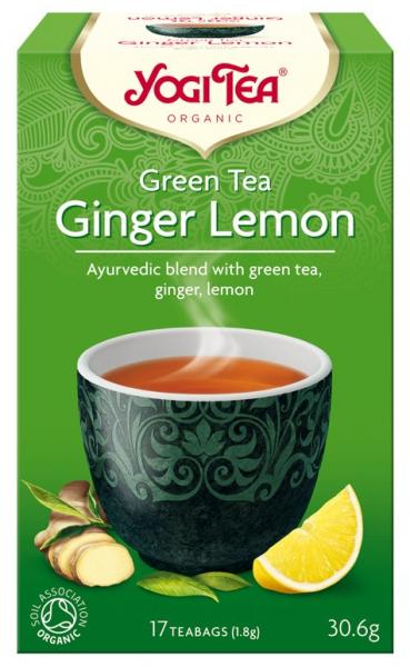 Ceai Bio VERDE, GHIMBIR SI LAMAIE, 30.6 g Yogi Tea [0]