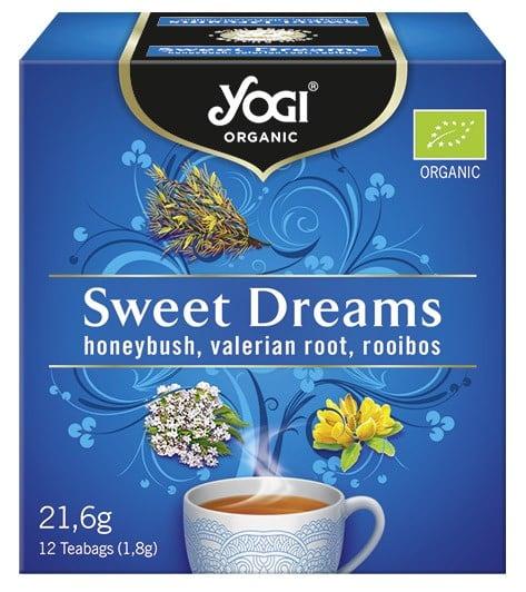 Ceai BIO vise placute cu honeybush, radacina de valeriana si rooibos, 12 plicuri - 21,6g Yogi Tea 0