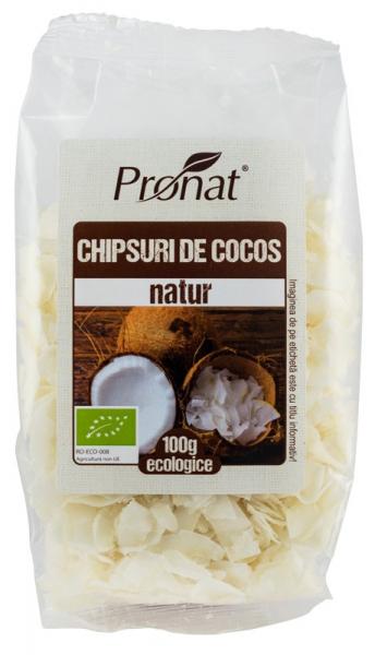 Chipsuri BIO din nuca de cocos, natur, 100 g [0]