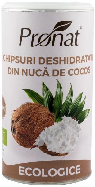 Chipsuri deshidratate din nuca de cocos, Bio, 110 g 0