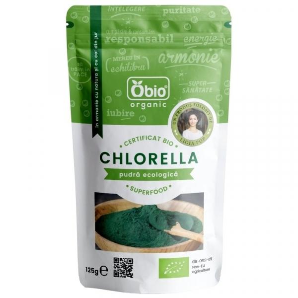 Chlorella pulbere raw bio 125g 0