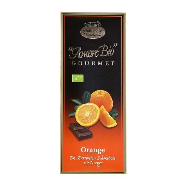 Ciocolata amaruie cu portocale, 55% cacao, 100 g LIEBHART'S AMORE BIO 0