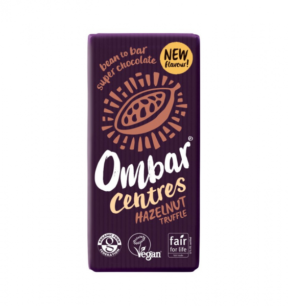 Ciocolata bio 60% cacao neprajita (RAW) cu alune de padure 35G OMBAR [0]