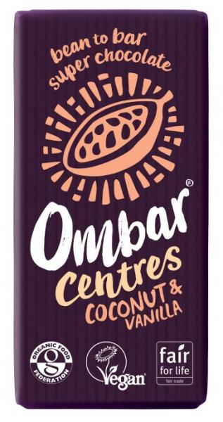 Ciocolata bio cu crema de cocos si vanilie, 60% cacao neprajita (RAW), 35G OMBAR [0]